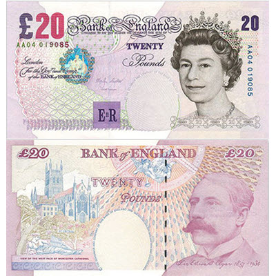 20 British pounds
