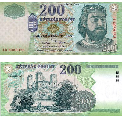 200 Hungarian forints