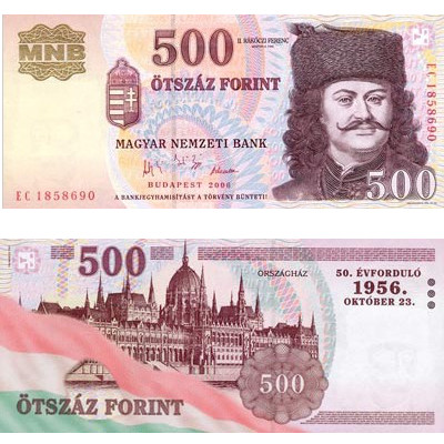 500 Hungarian forints