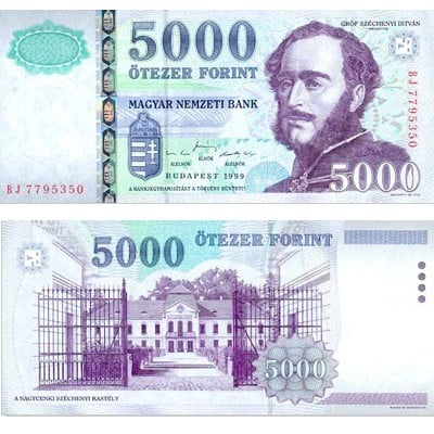 5000 Hungarian forints