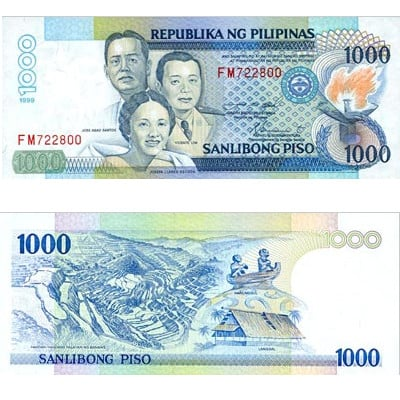 1000 filipinskih peza
