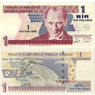 1 Turkish Lira