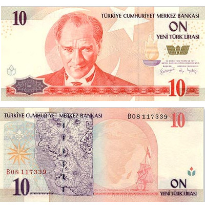 10 Turkish Lira