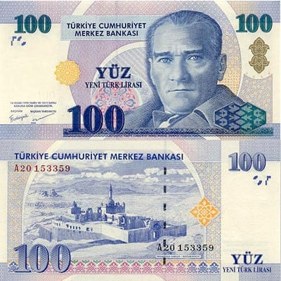 100 Turkish Lira