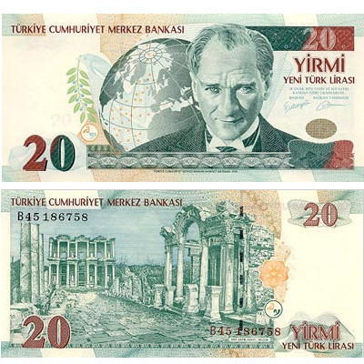 20 Turkish Lira