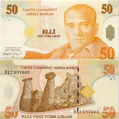 50 Turkish Lira
